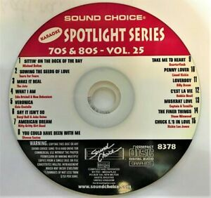 SOUND CHOICE KARAOKE SPOTLIGHT SERIES CD+G -8378- 70S 80S - VOL.25- CDG