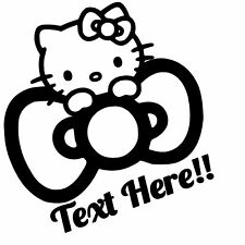 Hello Kitty Custom Text ,Vinyl Decal,Sticker for Cars,Windows,Laptops and more