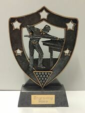 Snooker / Pool Trophy + FREE Engraving +  FREE P&P On Additional Trophies