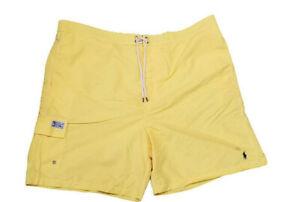 Polo Ralph Lauren Swim Trunk Shorts Mens 3XLT Yellow Mesh Lining New
