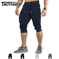 Men Cotton Gym Shorts Sports Bodybuilding Joggers Sweat Shorts Pants For Man Boy