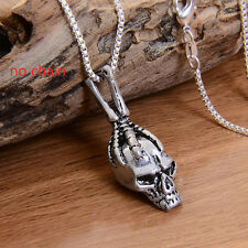 Men's Special Silver Skull Head Pendant Cool Personality Jewelry