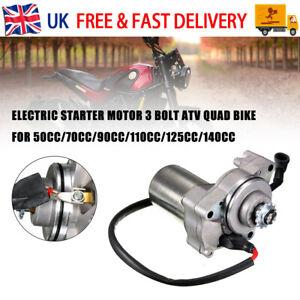3 Bolt Electric Starter Motor 50CC 70cc 90cc 110cc 4-Stroke Engine Quad ATV