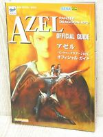 AZEL Panzer Dragoon RPG Guide Sega Saturn 1998 Book SB76*