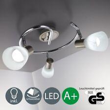 LED Decken-Lampe 3 Strahler Wohnzimmer Chrom-Glas-Design Spot-Leuchte 3-flammig