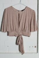 New Look Womens Cropped Top - Bronze - Size 12 (gg6)