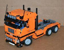 NEW LEGO TECHNIC ORANGE 8258 V6 MOC/CUSTOM TRUCK over 14 inches long