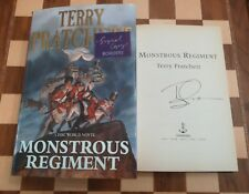 Monstrous Regiment SIGNED Terry Pratchett Hardback 1st edition 1st impression