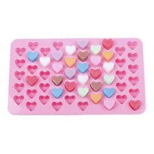 55 Herz Silikon Pralinen Form Backform Eiswürfel Schokolade Konfekt Trüffel US