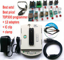 Factory wholesale TOP3000 USB universal programmer + 12 adapter + IC clip +clamp