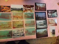 19 4 x 6 Color Photos of Brooklyn Coney Island NYC New York City Trolleys