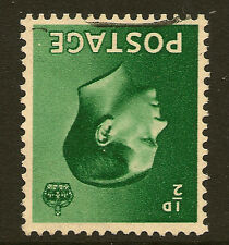 Gb Edward Viii : 1/2d green inverted watermark Sg 457wi used