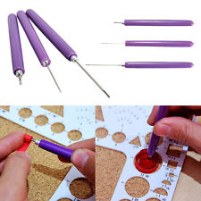 3X/Set Paper Quilling Tools Origami DIY - 2 Assorted Needles &1 Slotted Tool HK