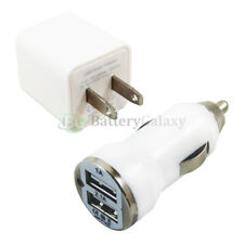 Fast Universal Dual 2 Port Wall+Car Charger for Apple iPhone /Android Cell Phone