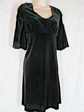 "OLD NAVY stretch velvet dress MEDIUM 36""bust,bell sleeves medieval"
