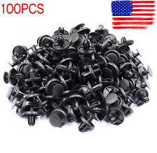 100 pcs 7mm Fender Push Clips Retainer Plastic Rivet Fastener For Toyota Pontiac
