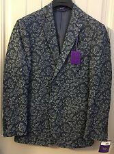 New MENS TALLIA  Blazers & Sport Coat  Denim MSRP: $225 Size:S
