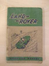 Vintage Land Rover Manual