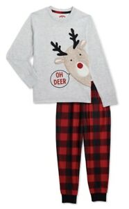 """Holiday Time """"OH DEER""""  Family 2 PC Pajamas for Kids.. XL(14-16)..NEW!!!"""