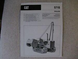 1991 CAT Caterpillar 571G pipelayer brochure