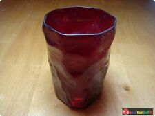 Vintage Ruby Red Morgantown Crinkle 8oz Tumbler • Multiple QTY Available