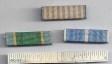 #19 Korean War Orig Lot of 3 Diff RIBBONS US Army Medal Military Korea U.S. USA