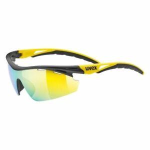 UVEX Sportstyle 111 Interchangeable Lens Glasses - Mirror Yellow, Orange & Clear