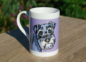 Schnauzer porcelain single mug