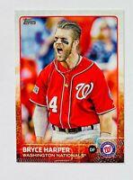 2015 Topps Series 1 Bryce Harper Variation Photo SP Card #207, Nationals Star!