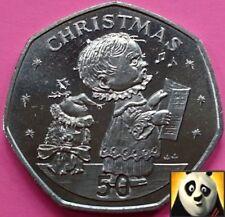 1989 GIBRALTAR 50p Fifty Pence Choir Boy Christmas XMAS Uncirculated Coin