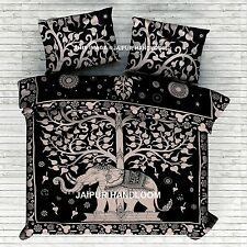 black and white look luck tree of life bedding set with matching pillows