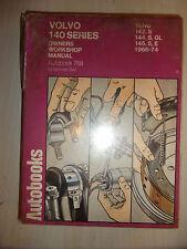 VOLVO 140 Series AUTOBOOKS WORKSHOP MANUAL 142 144 & 145 E S GL 1966-1974 66-74
