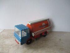 DDR MSB MS-25 Straßenreinigung Blechauto, LKW mit Schwungrad, Blechspielzeug