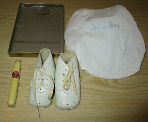 Vintage I'm a Boy Diaper Cover Kiddie Kover Small - Shoes & Bubble Gum Cigar Lot