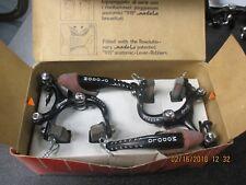 Vintage Modolo Speedy Brake Set, Black w/ natural rubber hoods NOS  NIB