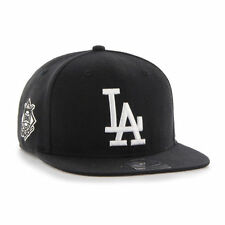 Los Angeles Dodgers '47 Brand Sure Shot Captain Black Flat Brim Snapback Hat