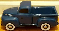 Vtg 1940s Official Ford F1 Blue Truck Teleflora Gift Ceramic Planter Candy Dish