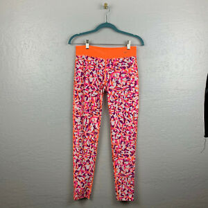 Nike Juniors Size XL Legend Graphic Leggings Orange Pink 7/8 Length