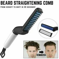 Hair Straightener For Men Multifunctional Comb Curling Electric Brush Beard Comb