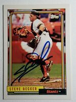 1992 Topps Steve Decker Auto Autograph Card Giants Signed #593