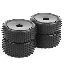 4 pcs 12mm Hex Rubber Front&Rear Tires+Wheel Rim For RC 1/10 Off-Road Buggy A03