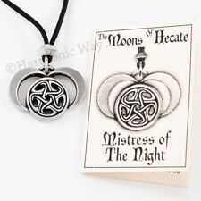 MOONS OF HECATE Pendant Wiccan Hekate Necklace TRIPLE MOON GODDESS JEWELRY
