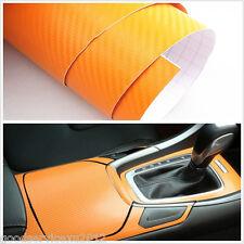 15 x 39 Inch Orange 3D Carbon Fibre Car Interior Air Vents Vinyl Film Wrap Decal