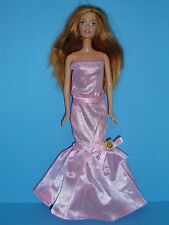 Pink Strapless Evening Gown Made to Fit Barbie Doll