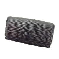 Louis Vuitton Key holder Key case Epi Black Woman Authentic Used Y4602