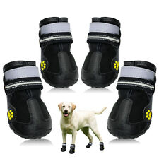 Waterproof Dog Shoes Reflective Anti Slip Rain Snow Shoes for Medium Large Dogs