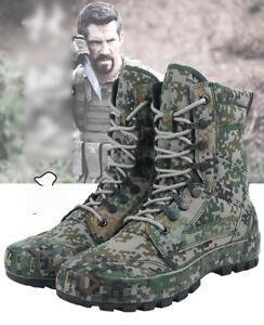 Herren Camo taktische Armee im freien Kampf Stiefeletten SWAT Jagd Wanderschuhe
