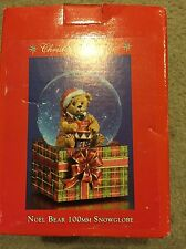 NEW Christopher Radko Christmas Musical Snowglobe Dome Noel Bear 100MM RARE 2002