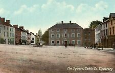 THE SQUARE CAHIR CO. TIPPERARY IRELAND IRISH POSTCARD by NOLAN, STATIONER, CAHIR