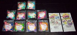 McDonalds Nickelodeon Tangle Twist-a-Zoid 1996 Comp Set of 8 MIP+HM Bags&Duplcts